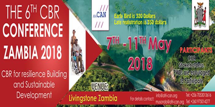 6th CBR Africa Conference 2018, Livingstone Zambia