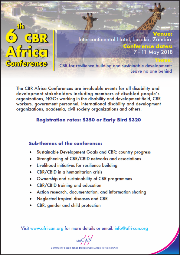 6th CBR Africa conference flyer