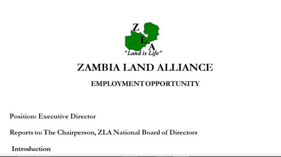 Employment Opportunity – ZLA Executive Director