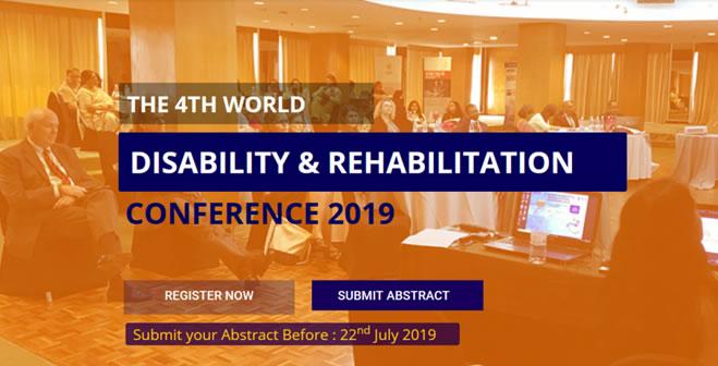4th World Disability & Rehabilitation Conference 2019