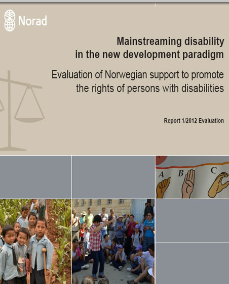 Mainstreaming disability in the new development paradigm